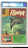 Silver Age (1956-1969):Adventure, Flipper #1 (Gold Key, 1966) CGC VF- 7.5 Cream to off-white pages. Overstreet 2002 VF 8.0 value = $42. ...