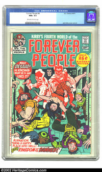 The Forever People #4 (DC, 1971). CGC NM+ 9.6 Off-white to white pages. Jack Kirby cover and art. Overstreet 2002 NM 9.4...