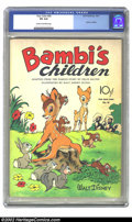 Golden Age (1938-1955):Cartoon Character, Four Color #30 (Dell, 1943) CGC VG 4.0 Cream to off-white pages. This issue features Bambi's children. Overstreet 2002 GD 2....