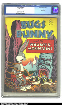 Four Color #142 (Dell, 1947) CGC NM 9.4 Off-white to white pages. Bugs Bunny. Overstreet 2002 NM 9.4 value = $205