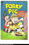 "Golden Age (1938-1955):Cartoon Character, Four Color #182 (Dell, 1948) Condition: VG+. ""Porky Pig in Ever-Never Land."" Overstreet 2002 GD 2.0 value = $10; FN 6.0 valu..."
