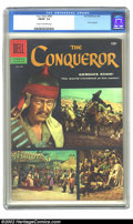 Silver Age (1956-1969):Adventure, Four Color #690 (Dell, 1956) CGC FN/VF 7.0 Cream to off-white pages. The Conqueror; John Wayne photo cover. Overstreet 2002 ...