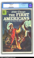 Silver Age (1956-1969):Miscellaneous, Four Color #843 (Dell, 1957) CGC FN 6.0 Cream to off-white pages.The First Americans. Overstreet 2002 FN 6.0 value = $27. ...
