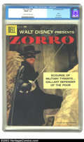 """Silver Age (1956-1969):Adventure, Four Color #882 (Dell, 1958) CGC FN/VF 7.0 Cream to off-white pages. This """"Zorro"""" story features a photo cover. Overstreet 2..."""