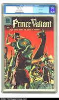 """Silver Age (1956-1969):Adventure, Four Color #900 (Dell, 1958) CGC VF- 7.5 Cream to off-white pages. This """"Prince Valiant"""" based issue has a 1"""" tear on the 1s..."""