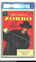 """Silver Age (1956-1969):Adventure, Four Color #920 (Dell, 1958) CGC FN 6.0 Cream to Off-white pages. This issue features a """"Zorro"""" photo cover. Overstreet 2002..."""