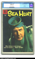 """Silver Age (1956-1969):Adventure, Four Color #928 (Dell, 1958) CGC VG/FN 5.0 Cream to off-white pages. """"Sea Hunt"""" story. Overstreet 2002 GD 2.0 value = $12; F..."""