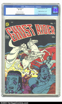 Ghost Rider #1 (Magazine Enterprises, 1950) CGC VF 8.0 Cream to off-white pages. Dick Ayers cover and art. Overstreet 20...