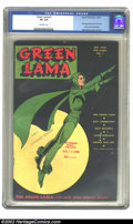 Golden Age (1938-1955):Superhero, Green Lama #1 (Spark Publications, 1944) CGC VG 4.0 Off-white pages. Overstreet 2002 GD 2.0 value = $127; FN 6.0 value = $38...