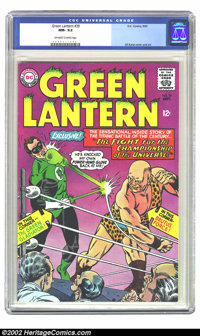 Green Lantern #39 (DC, 1965) CGC NM- 9.2 Off-white to white pages. Gil Kane cover and art. Overstreet 2002 NM 9.4 value...