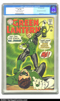"""Silver Age (1956-1969):Superhero, Green Lantern #59 (DC, 1968) CGC VF 8.0 Cream to off-white pages. CGC notes: """"'$1.00' written on back cover in pencil"""". Firs..."""