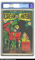 Golden Age (1938-1955):Superhero, Green Lantern #17 (DC, 1945) CGC FN/VF 7.0 Cream to off-white pages. Overstreet 2002 FN 6.0 value = $387; VF 8.0 value = $80...