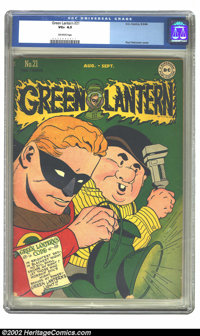 Green Lantern #21 (DC, 1946) CGC VG+ 4.5 Off-white pages. Overstreet 2002 GD 2.0 value = $118; FN 6.0 value = $355