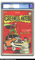 Golden Age (1938-1955):Superhero, Green Lantern #24 (DC, 1947) CGC VF- 7.5 Cream to off-white pages. Overstreet 2002 VF 8.0 value = $738. ...