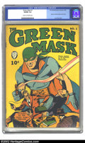 Golden Age (1938-1955):Superhero, Green Mask #1 (Fox Features Syndicate, 1940) CGC VG/FN 5.0 Cream to off-white pages. Lou Fine cover on issue with the origin...