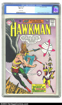 Hawkman #2 (DC, 1964) CGC NM- 9.2 Off-white pages. Overstreet 2002 NM 9.4 value = $265
