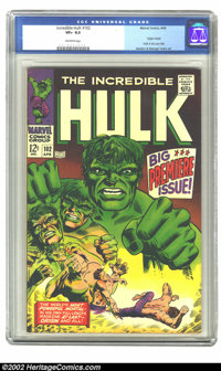 The Incredible Hulk #102 (Marvel, 1968) CGC VF+ 8.5 Off-white pages. Origin retold; Hulk in his own title; Severin &...