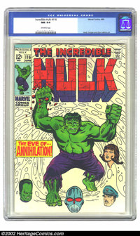 The Incredible Hulk #116 (Marvel, 1969) CGC NM 9.4 Off-white pages. Herb Trimpe and Dan Adkins art. Overstreet 2002 NM 9...