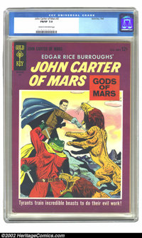 John Carter of Mars #2 (Gold Key, 1964) CGC FN/VF 7.0 Cream to off-white pages. Overstreet 2002 FN 6.0 value = $12, VF 8...