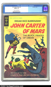 John Carter of Mars #3 (Gold Key, 1964) CGC FN/VF 7.0 Cream to off-white pages. Overstreet 2002 FN 6.0 value = $12, VF 8...