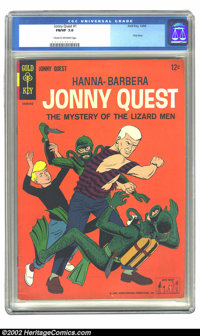 Jonny Quest #1 (Gold Key, 1964) CGC FN/VF 7.0 Cream to off-white pages. Overstreet 2002 FN 6.0 value = $105; VF 8.0 valu...