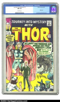 Journey into Mystery #113 (Marvel, 1965) CGC NM 9.4 Off-white pages. Origin Loki; Jack Kirby and Chic Stone art. Overstr...