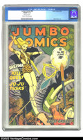 """Golden Age (1938-1955):Adventure, Jumbo Comics #88 (Fiction House, 1946) CGC FN/VF 7.0 Cream to off-white pages. CGC notes: """"Slightly rusted staples"""". Matt Ba..."""