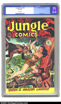 Jungle Comics #102 (Fiction House, 1948) CGC VF 8.0 White pages. Overstreet 2002 VF 8.0 value=$99