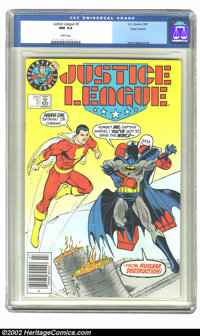 Justice League #3 (DC, 1987) CGC NM 9.4 White pages. Logo variant; Kevin Maguire art. Overstreet 2002 NM 9.4 value = $45...