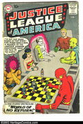 Silver Age (1956-1969):Superhero, Justice League of America #1 (DC, 1960) Condition: GD. Centerfold detached. Origin and first appearance of Despero; Aquaman,...