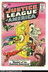 Justice League of America Lot (DC, 1960-61). This lot contains 7 early issues of the Justice League. Issue #2 is GD- (co...