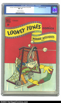 Looney Tunes and Merrie Melodies Comics #76 (Dell, 1948) CGC NM- 9.2 Off-white to white pages. Overstreet 2002 NM 9.4 va...