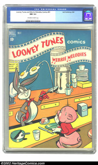 Looney Tunes and Merrie Melodies Comics #91 (Dell, 1949) CGC NM 9.4 Off-white to white pages. Overstreet 2002 NM 9.4 val...