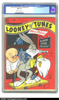 Looney Tunes and Merrie Melodies Comics #129 (Dell, 1952) CGC NM- 9.2 Off-white to white pages. Overstreet 2002 NM 9.4 v...