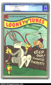 Looney Tunes and Merrie Melodies Comics #141 (Dell, 1953) CGC NM 9.4 Off-white to white pages. Overstreet 2002 NM 9.4 va...