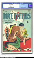 Golden Age (1938-1955):Romance, Love Letters #2 Mile High pedigree (Quality, 1950) CGC VF- 7.5Off-white pages. Ward cover, Gustavson art. Overstreet 2002 V...