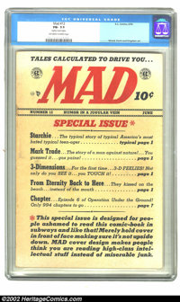 Mad #12 (EC, 1954) CGC FN- 5.5 Off-white to white pages. Slightly rusted staple. Wood, Davis, and Krigstein art. Overstr...