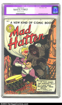 "Mad Hatter #1 (O.W. Comics, 1946) CGC Apparent VG+ 4.5 Slight (P) Off-white to white pages. CGC notes ""Restoration..."