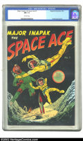 Golden Age (1938-1955):Science Fiction, Major Inapak, the Space Ace #1 (Magazine Enterprises, 1952) CGC NM9.4 Off-white pages. Giveaway. Bob Powell cover and art. ...