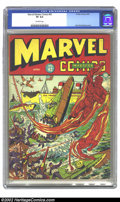 Golden Age (1938-1955):Superhero, Marvel Mystery Comics #42 (Timely, 1943) CGC VF 8.0 Off-white pages. Alex Schomburg cover. Overstreet 2002 VF 8.0 value = $7...