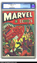 Golden Age (1938-1955):Superhero, Marvel Mystery Comics #45 (Timely, 1943) CGC FN/VF 7.0 Off-white pages. Alex Schomburg cover. Overstreet 2002 FN 6.0 value =...