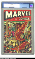 Marvel Mystery Comics #55 (Timely, 1944) CGC VF- 7.5 Off-white to white pages. Alex Schomburg cover. Overstreet 2002 VF...
