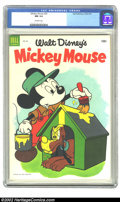 Golden Age (1938-1955):Funny Animal, Mickey Mouse #33 (Dell, 1954) CGC NM 9.4 Off-white pages.Overstreet 2002 NM 9.4 value = $45. ...