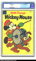 Golden Age (1938-1955):Funny Animal, Mickey Mouse #40 (Dell, 1955) CGC NM 9.4 Off-white pages.Overstreet 2002 NM 9.4 value = $38. ...