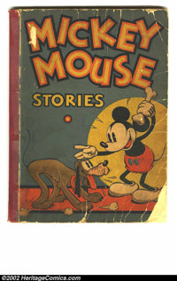 Mickey Mouse Stories #2 (David McKay, 1934) Condition = GD-. Crayon inside, tape on front of spine, back cover is loose...