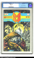"""Modern Age (1980-Present):Superhero, Miracleman #15 (Eclipse, 1988). CGC NM- 9.2 White pages. """"Death"""" of Kid Miracleman. Very scarce issue. Overstreet 2002 NM 9...."""