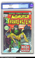 Bronze Age (1970-1979):Horror, The Monster of Frankenstein #2 (Marvel, 1973) CGC NM 9.4 Off-whitepages. Overstreet 2002 NM 9.4 value=$30....