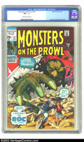 Bronze Age (1970-1979):Horror, Monsters on the Prowl #10 (Marvel, 1971) CGC NM+ 9.6 Off-white towhite pages. Don Heck and George Tuska art. ...