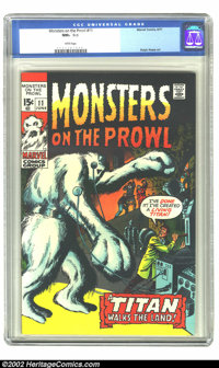 Monsters on the Prowl #11 (Marvel, 1971) CGC NM+ 9.6 White pages. Ralph Reese art