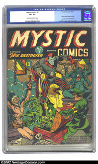 Mystic Comics #7 (Timely, 1941) CGC VF- 7.5 Cream to off-white pages. Overstreet 2002 VF 8.0 value = $2,292
